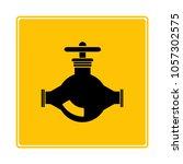 valve  pipeline tap symbol in... | Shutterstock .eps vector #1057302575