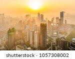 City Center Sunrise Foggy Morning - Fine Art prints