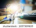 electronic control kit diy... | Shutterstock . vector #1057309835