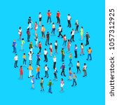 set of isometric people with...   Shutterstock .eps vector #1057312925