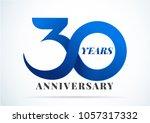 30 years anniversary... | Shutterstock .eps vector #1057317332