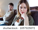 portrait of offended young...   Shutterstock . vector #1057325072
