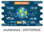 space debris vector...