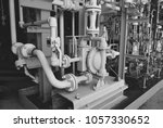 diaphragm pump install on oil... | Shutterstock . vector #1057330652