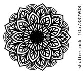 mandalas for coloring book.... | Shutterstock .eps vector #1057332908