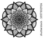 mandalas for coloring book.... | Shutterstock .eps vector #1057332926