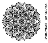 mandalas for coloring book.... | Shutterstock .eps vector #1057332956