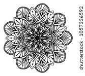 mandalas for coloring book.... | Shutterstock .eps vector #1057336592