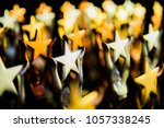 golden trophy the big star.... | Shutterstock . vector #1057338245