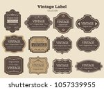 vector set vintage labels and... | Shutterstock .eps vector #1057339955
