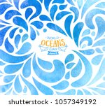 world oceans day. celebration... | Shutterstock .eps vector #1057349192
