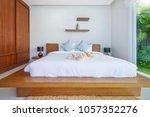 luxury interior design in...   Shutterstock . vector #1057352276