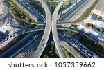 aerial drone bird's eye view... | Shutterstock . vector #1057359662