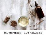 vitex agnus castus on white...   Shutterstock . vector #1057363868