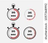 timer 35 seconds on gray... | Shutterstock .eps vector #1057368992