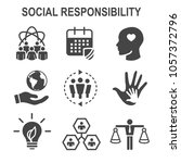 social responsibility solid...   Shutterstock .eps vector #1057372796