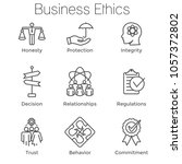 business ethics outline icon... | Shutterstock .eps vector #1057372802