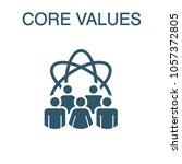 core values solid icon w person ... | Shutterstock .eps vector #1057372805