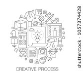 creative process in circle  ... | Shutterstock .eps vector #1057374428