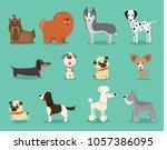 vector illustration set of cute ... | Shutterstock .eps vector #1057386095