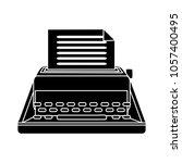 vector typewriter icon | Shutterstock .eps vector #1057400495