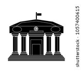 bank building icon | Shutterstock .eps vector #1057400615