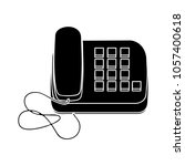 old phone icon | Shutterstock .eps vector #1057400618