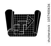 construction blue print icon | Shutterstock .eps vector #1057400636
