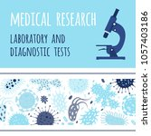 banner design with microscope... | Shutterstock . vector #1057403186