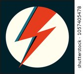 david bowie ziggy stardust red... | Shutterstock .eps vector #1057405478