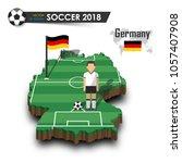 germany national soccer team ....   Shutterstock .eps vector #1057407908