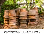 plant pots are waiting to be...   Shutterstock . vector #1057414952
