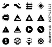 solid vector icon set  ... | Shutterstock .eps vector #1057418525