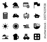 solid vector icon set   bell...
