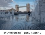 wide angle view of london... | Shutterstock . vector #1057428542