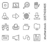 thin line icon set   finance... | Shutterstock .eps vector #1057433405