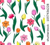 seamless floral pattern with... | Shutterstock .eps vector #1057436228