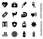 solid vector icon set   heart... | Shutterstock .eps vector #1057440356