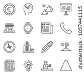 thin line icon set  ... | Shutterstock .eps vector #1057441115