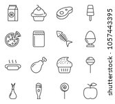 thin line icon set   cupcake... | Shutterstock .eps vector #1057443395