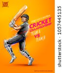 illustration of batsman playing ... | Shutterstock .eps vector #1057445135