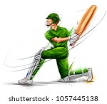 illustration of batsman playing ... | Shutterstock .eps vector #1057445138
