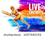illustration of batsman playing ... | Shutterstock .eps vector #1057445192