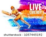 illustration of batsman playing ... | Shutterstock .eps vector #1057445192