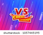 illustration of batsman and... | Shutterstock .eps vector #1057445195
