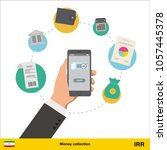mobile banking concept. iranian ... | Shutterstock .eps vector #1057445378
