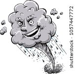 a happy  cartoon tornado storm... | Shutterstock .eps vector #1057447772