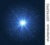 realistic lens flare effect.... | Shutterstock .eps vector #1057452992