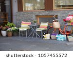 bike and miscellaneous for sale ... | Shutterstock . vector #1057455572