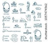 vector set of logo  labels ...   Shutterstock .eps vector #1057474562